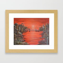 Crimson City Framed Art Print