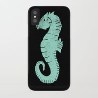 sea horse iPhone & iPod Cases featuring SEA HORSE by Matthew Taylor Wilson