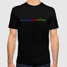 Toronto Rainbow Black Mens Fitted Tee MEDIUM