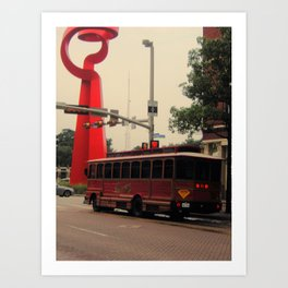 Friendship and a Trolley in San Antonio Art Print