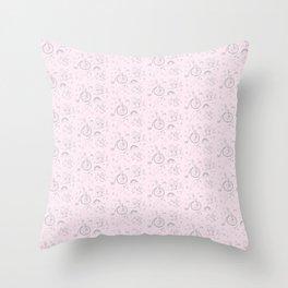 Magical creatures pattern Throw Pillow
