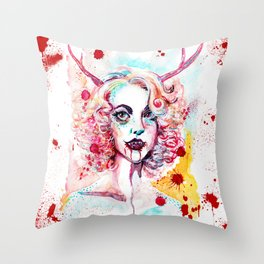 pay attention Throw Pillow