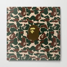 BAPE APE ON GREEN Metal Print