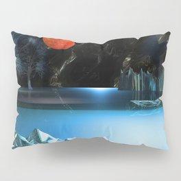 3d Art Digital Art Cave Lake Pillow Sham