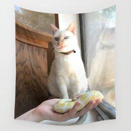 Cat No Banana Snek Wall Tapestry