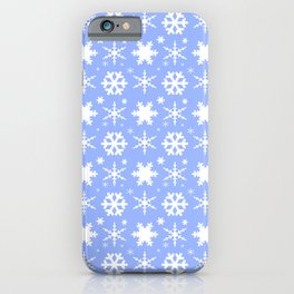Snowflakes Blue iPhone Case
