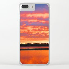 Rippling Clouds Clear iPhone Case