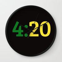 oakland Wall Clocks featuring Oakland 420 by Good Sense