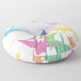 Paper Cranes Floor Pillow
