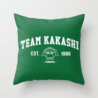 kakashi Throw Pillows featuring Team Kakashi by Tsundere in the Sheets