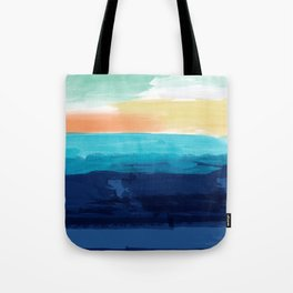 Abstract Paint Ocean Sunset Tote Bag