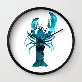 Blue Lobster Wall Clock
