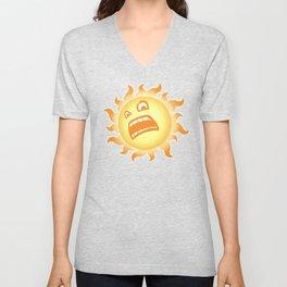 SCARED SUN Unisex V-Neck