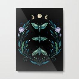 Lime Hawk Moths Night Metal Print