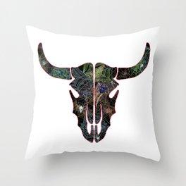 Bull Web Head 1 Throw Pillow