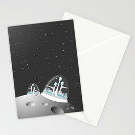 popfuture: moon colony Stationery Cards