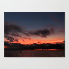 Gliding Sunset Canvas Print