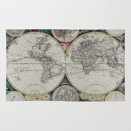 Atlas Maritimus - Vintage World Map Rug