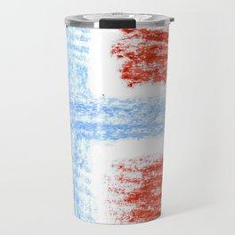 flag of norway 10 – Chalk version  snow,scandinavia,scandinavian,norwegian,oslo Travel Mug