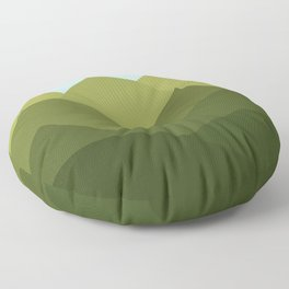 Mountains and Sky Floor Pillow