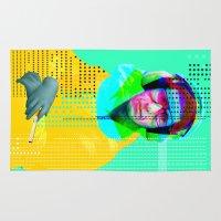 beastie boys Area & Throw Rugs featuring Gioconda Music Project · Beastie Boys · Mike D. by Marko Köppe