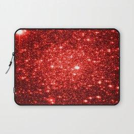 GalaXy : Red Glitter Sparkle Laptop Sleeve