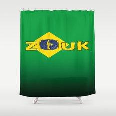 colors of brazil - lets dance brazilian zouk Shower Curtain
