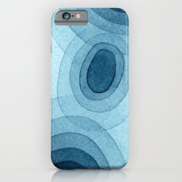 Blue One iPhone Case