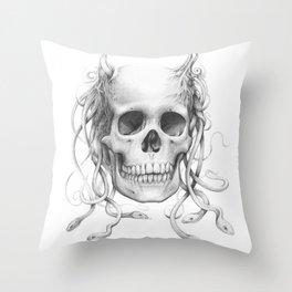 Medusa Skull Throw Pillow