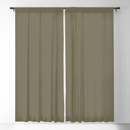 Martini Olive | Pantone Fashion Color | Fall : Winter 2018 | New York and London | Solid Color | Blackout Curtain
