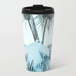 Palm and Snow Metal Travel Mug