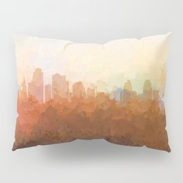 Kansas City, Missouri Skyline - In the Clouds Pillow Sham