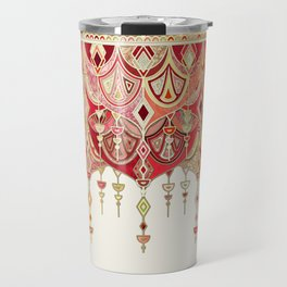Royal Red Art Deco Double Drop Travel Mug