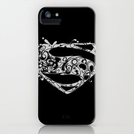 Superman logo grey iPhone Case