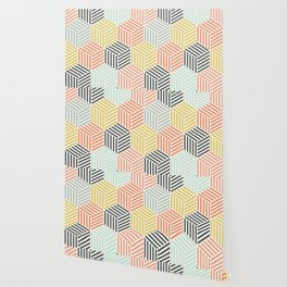 Colorful Geometric Pattern Wallpaper