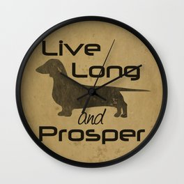 Live Long - Smooth, Coat, hair, Dachshund Love Wall Clock