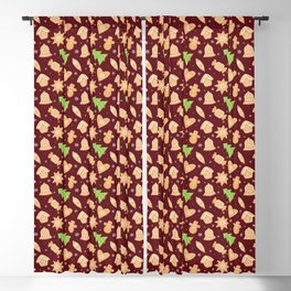 Christmas gingerbread cookies Blackout Curtain