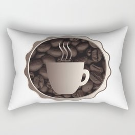 Roasted Coffee Cup Sign Rectangular Pillow