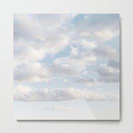 White Clouds | Blue Sky | Landscape Photography | Beach | Sunrise | Travel | Adventure | Dreamy Metal Print