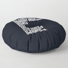 Music festival dream list | Djs gift Floor Pillow