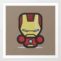 ironman Art Prints featuring Ironman by MaNia Creations