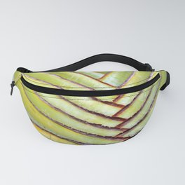 Green leather Fanny Pack