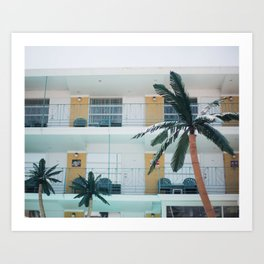 Retro Motel in Wildwood, New Jersey Art Print