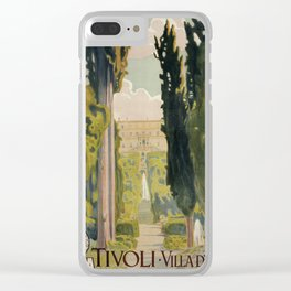 Tivoli Lazio Rome travel ad Clear iPhone Case