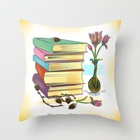 books Throw Pillows featuring Books by famenxt