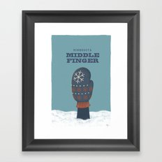 Minnesota Middle Finger Framed Art Print