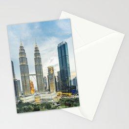 Petronas Towers at Sunset, Kuala Lumpur, Malaysia Stationery Cards