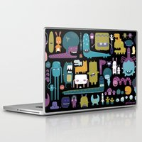 monsters Laptop & iPad Skins featuring MONSTERS by Piktorama