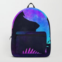 EAGLE IN SPACE // Animal Graphic Art // Watercolor Canvas Painting // Modern Minimal Cute Backpack