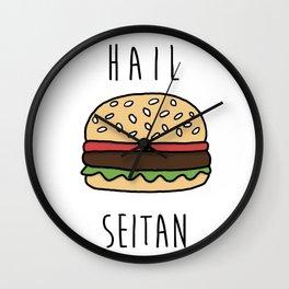 Hail Seitan Wall Clock